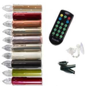 10er/20er Kabellose LED Weihnachtsbaumkerzen + Fernbedienung,Baumkerzen,Zubehör