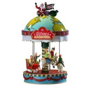 Lemax Yuletide Carousel, Weihnachtsdorf, Weihnachtsdeko, Tischdekoration