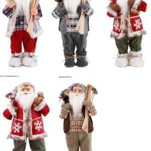 Weihnachtsmann Deko Figur Weihnachten und Advent Nikolaus 60 / 80cm