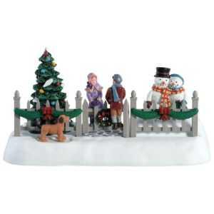 Lemax Swinging Gate, Weihnachtsdorf, Tischdeko, Weihnachtsdeko