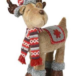 Weihnachts Deko Figur Rentier oder Elch Stoff Plüsch Dekoration XL ; EEK A