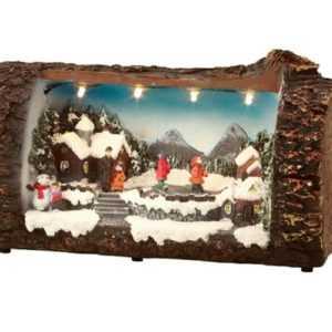 LED Deko Baumstamm beleuchtet Winterdeko Weihnachten Weihnachtsdekoration Winter