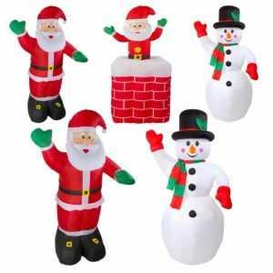 Aufblasbarer Weihnachtsmann Kamin Schneemann Santa XXL Weihnachten beleuchtet