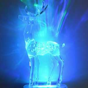 Weihnachtsdeko LED Dekolicht Hirsch 28 x 14 cm aus Acrylglas inkl. Batterien