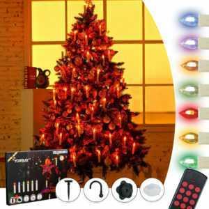 20/30/40er kabellose LED Weihnachtskerzen RGB/Warmweiß Dimmbar mit Fernbedienung