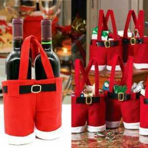 Weihnachten Geschenktüte Geschenktasche Weihnachtstüte Wein Tasche Bonbon Beutel