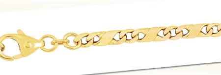 3,7 mm 19 cm 333 - 8 Karat Gelbgold Dollar Kette  Gold  Armkette 7,4 g