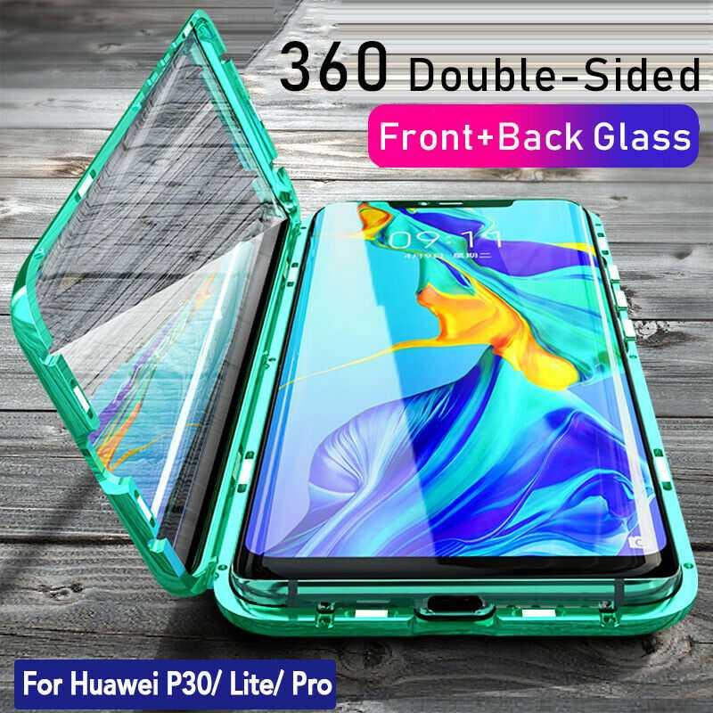 Hülle Für Huawei P30 Pro Lite Magnet Doppelseitiges Glas Cover Handy Schutz Case