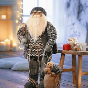 Deko Weihnachtsmann Claus Nikolaus Santaclaus Figur Dekofigur 60cm NEU