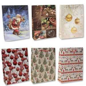 48 große Geschenktüten Weihnachten Weihnachtstüten xxx tasche MIXX 62806 AM