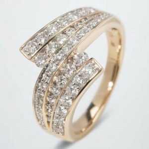 Ä2544 Ring 375er Gelbgold Diamanten weiß 1,00ct RW16