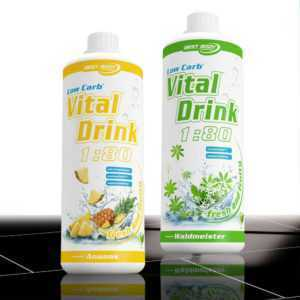 11,00€ /Ltr. Best Body Nutrition Low Carb Vital Drink 2 x 1000 ml Mineraldrink