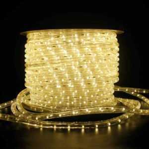 6-100m LED Lichtschlauch schlauch Lichterkette Außen/Innen geeignet Warmweiß DHL