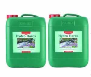 Canna Hydro Flores A&B 2x 10 L Liter für Blütephase Growset Dünger
