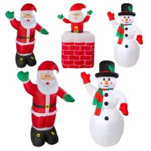 Aufblasbare Weihnachtsfiguren 180cm 240cm LED Weihnachtsmann Schneemann Santa