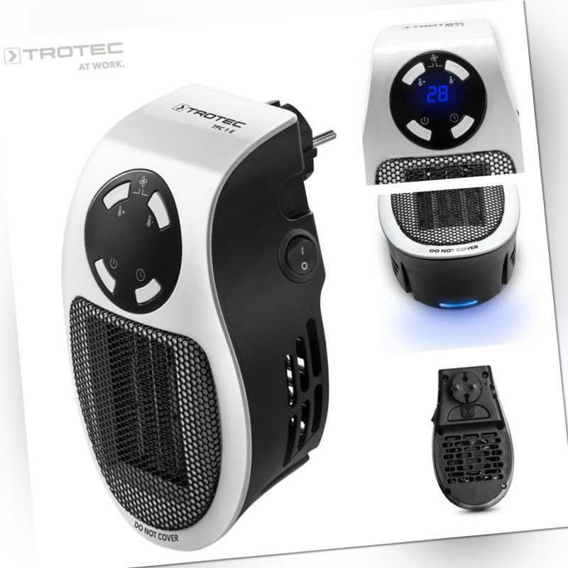 TROTEC Steckdosen Heizlüfter TFC 1 E | Mini Heizung | Elektroheizer | Heizgerät