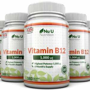 Vitamin B12 1000mcg 5 Flaschen 900 Beere Aromatisiert Schmilzt 100%Geld Zurück
