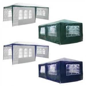 Pavillon 3 x 6 m mit Seitenteilen Partyzelt Gartenzelt Festzelt wasserdicht