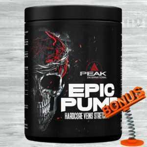 Peak Epic Pump 500g Dose 49,80 €/kg Hardcore Pre Workout Booster + Bonus