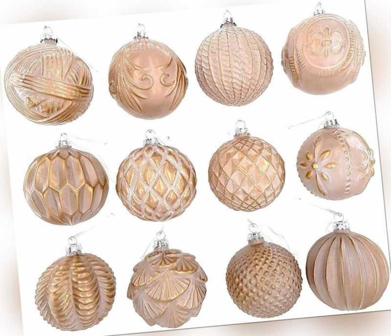 12 Luxus Weihnachtskugeln Christbaumkugeln Weihnachten Glas Weihnachtsdeko I8