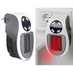 Sichler Steckdosen-Keramik-Heizlüfter mit Thermostat, Timer, Display, 500 Watt
