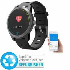 EKG-Smartwatch: Fitness-Uhr mit Bluetooth, Herzfrequenz (Versandrückläufer)
