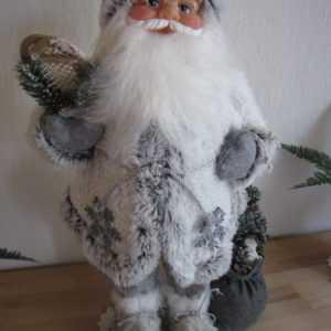 Weihnachtsmann 60 cm Weihnachtsdeko Nikolaus Weihnachten Santa Claus Schneeflock