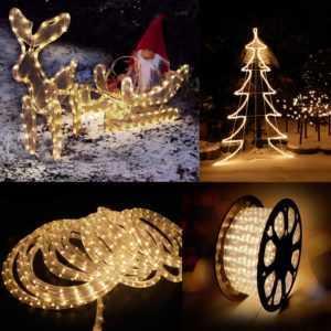 6-50M LED Lichterschlauch schlauch Lichterkette Lichtschlauch Außen/Innen