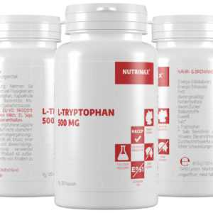 Nutrinax Tryptophan - 360 Kapseln L-Tryptophan hochdosiert L-Tryptophan Pulver