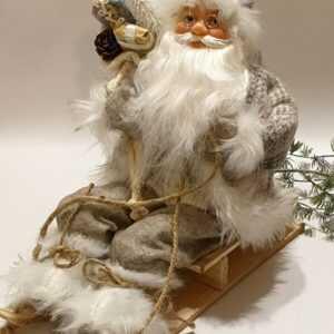 Nikolaus mit Schlitten Weihnachtsmann Santa Claus Weihnachtsdeko