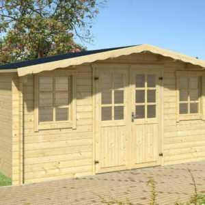 34mm Gartenhaus 500x500 cm Gerätehaus Blockhaus Schuppen Holzhaus Holzhütte Holz