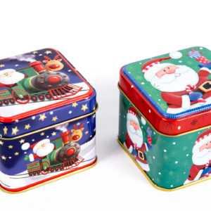 2, 6 oder 12 Weihnachtsdosen aus Blech Weihnachten / Geschenkbox Blechdose Dose