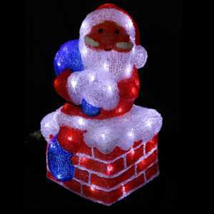 50 LED Acryl Santa Claus Weihnachten Weihnachtsbeleuchtung Deko Beleuchtung