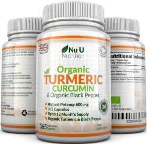 Organisches Kurkuma Curcumin 600mg 3 Flaschen 365 Kapseln mit Biologischem