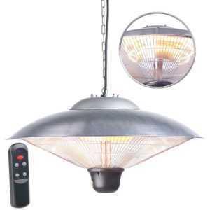 Semptec IR-Decken-Heizstrahler mit LED-Licht, Fernbedienung, bis 2.000 W, IP34