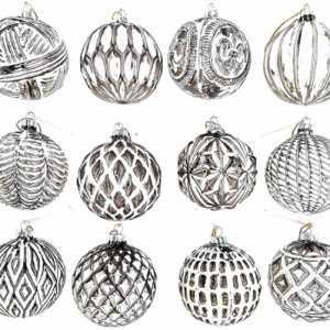 12 Luxus Weihnachtskugeln Christbaumkugeln Weihnachten Glas Weihnachtsdeko K8