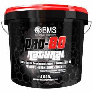 BMS Pro-80 Natural 4kg Eimer Eiweiß ohne Süßstoffe+ 2 Bonusartikel  (21,22€/kg)