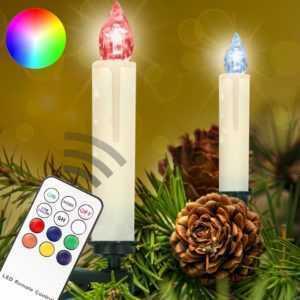 LED Weihnachtskerzen RGB kabellose Weihnachtsbaumbeleuchtung Kerzen Lichterkette