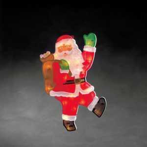 Konstsmide 2850-010 LED Fenster Bild beleuchtet Deko winkender Weihnachtsmann