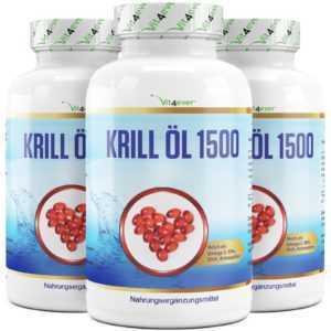 KRILLÖL 1500 - 405 Kapseln Softgel - Astaxnathin Omega 3 Laborgeprüft - Krill öl
