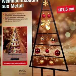 Weihnachtsbaum METALL 101,5cm selbstschmücke OHNE DEKO puristisch Adventkalender