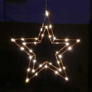 LED Stern Fenster 47 cm Wand Deko beleuchtet aus Draht Weihnachtsbeleuchtung