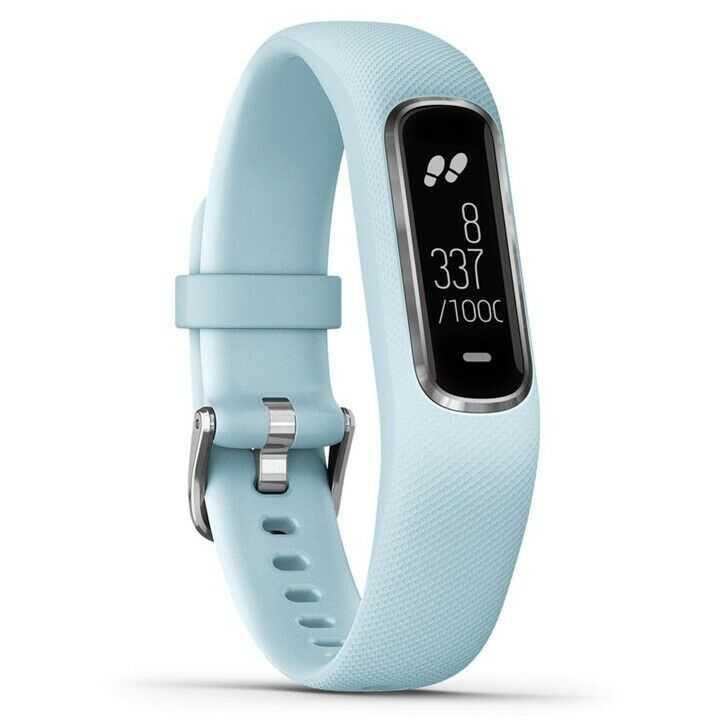 Garmin vívosmart 4 Fitness-Tracker S/M hellblau-silber, Aktivitätstracker