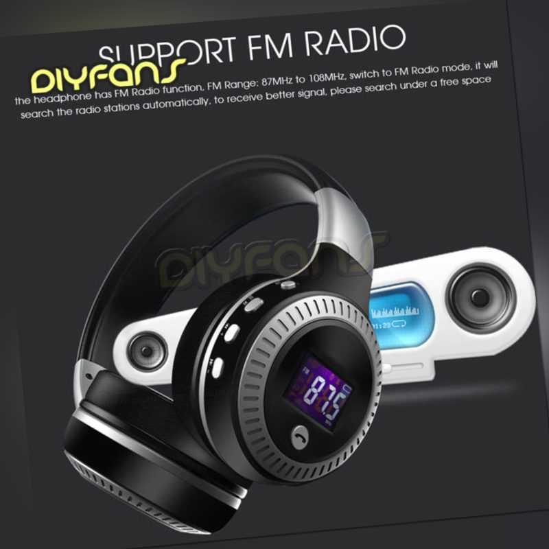 Stereo Bluetooth Kopfhörer Wireless Headset Faltbare Micro SD Karte
