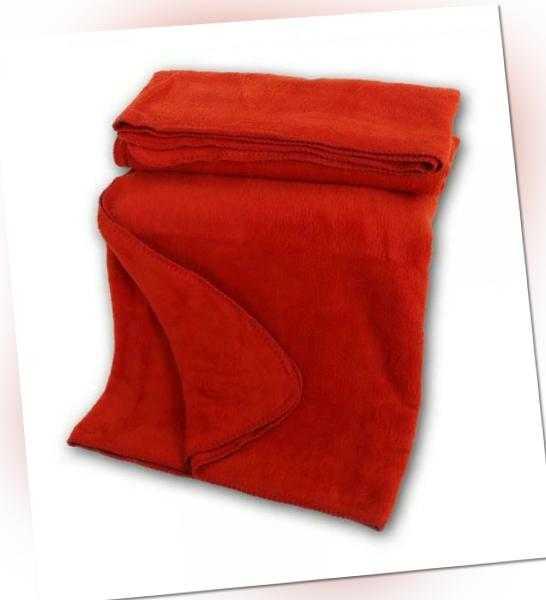 Bio Baumwoll Kuscheldecke, rot, Wohndecke aus 100% Bio Baumwolle