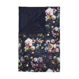 ESSENZA Tagesdecke Quilt Überwurf Fleur Dunkelblau Blumen Blüten