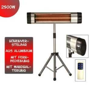 2500 Watt Infrarot Heizstrahler Standheizer Terassen Strahler mit Fernbedienung