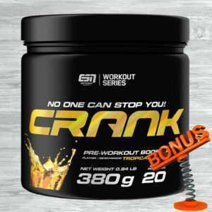 ESN CRANK 380g Dose 70,76 €/kg Pre Workout Booster mit Koffein + Bonus