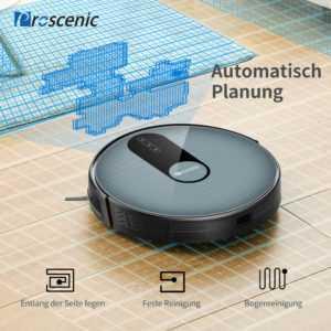 Proscenic 820P Alexa Saugroboter wischfunktion Auto Staubsauger Vakuum Reinigung