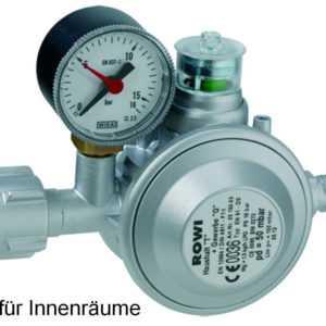 Rowi HGD 1/2 Druckminderer Gas Druckregler mit doppelter Überdrucksicherung